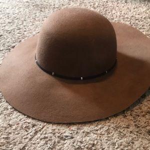 Brown Wide Brimmed Hat